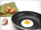 Illustration fried egg over easy