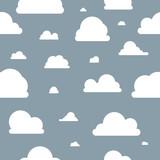 Wolken - Muster - Blau - 132308831