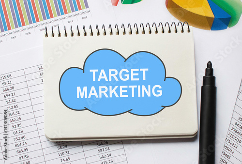 Poster Notebook with Toolls and Notes about Target Marketing