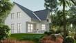 Klassisches Einfamilienhaus im grünen Garten
