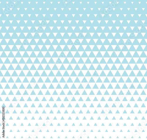 Abstract geometric blue graphic design print triangle halftone pattern