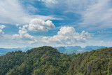 View of mountains and clouds in Krabi, Southern Thailand.
