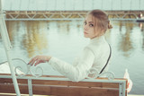 Girl near the pier