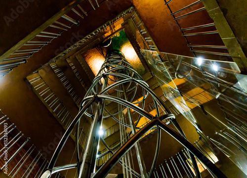 Poster Elevator inside of Prague Astronomical Clock tower in Czech republic