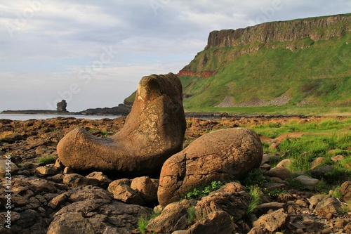 Poster Der Stiefel des Riesen am Giant`s Causeway (Nordirland)