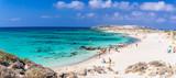Famous pink coral beach of Elafonissi (Elafonisi) on Crete, Mediterannean sea, Greece - 132347233