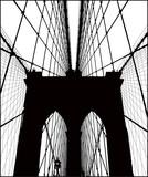 Brooklyn Bridge vector silhouette.  - 132347850