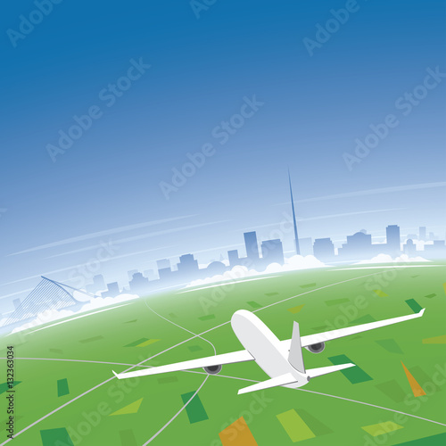 Poster Dublin Skyline Flight Destination