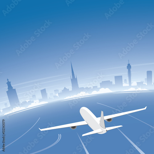 Poster Stockholm Skyline Flight Destination