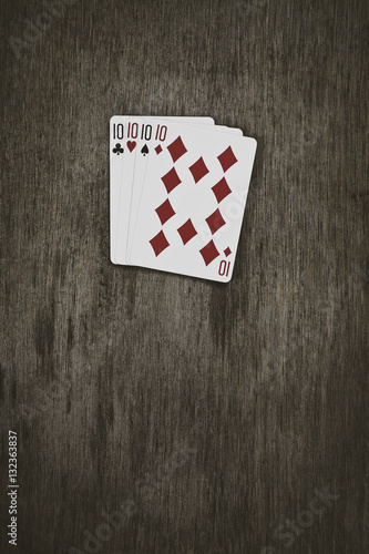 Poster playing cards