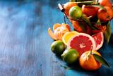 Mix of citrus fruits, vitamins concept, refreshment, healthy fru
