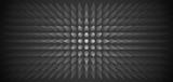 Volume abstract gray background, many pillar, cones, 3d vector dark wallpaper