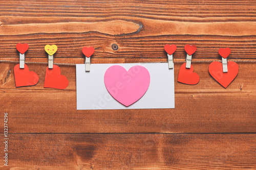 Poster valentine heart with emoji pegs