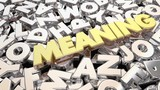 Meaning Secret Scrambled Message Letters Word 3d Animation