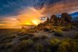 Pyramid Lake Nevada Tufas at Sunset