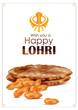 Detaily fotografie Happy Lohri festival of Punjab India background