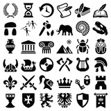 History and culture icon collection - vector silhouette - 132401231