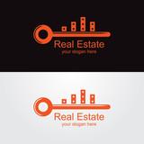 real eastate logo with orange key