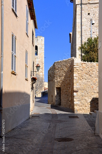 Poster Street in Provence, Côte d'Azur, France