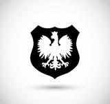 Fototapety Badge with Polish Eagle vector