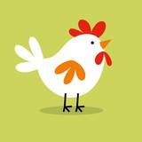 cute chicken hen design