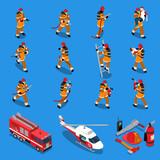 Fireman Isometric Set - 132427645