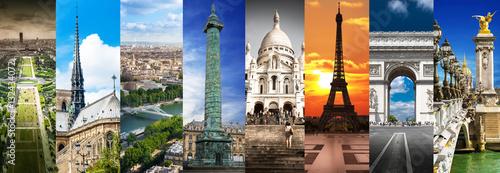 Parigi collage orizzontale - 132434072