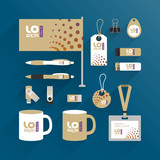 Corporate identity template and promotional gifts - 132439071