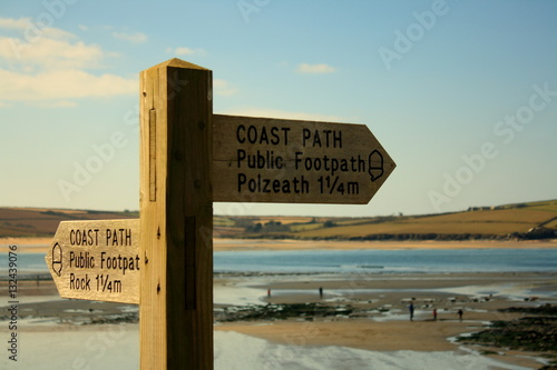 Poster cornish coastal path