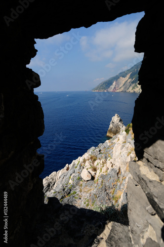 In de dag Liguria Portovenere piccolo luogo storico della Liguria, Italia