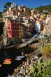 Riomaggiore, famoso paese della Liguria, Italia