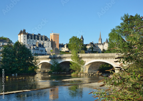 Summer view of the French city Pau