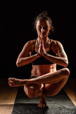 Girl doing yoga asana