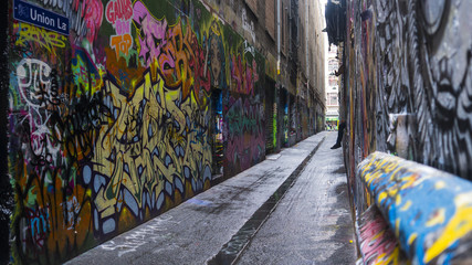 Graffiti art alley way © ROSS
