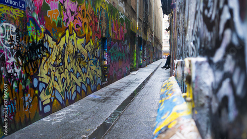 Graffiti art alley way