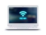 Laptop with Free Wifi logo