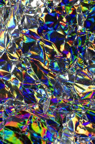 Holographic Abstract Shiny Background - 132487805