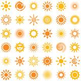Sun icon collection ...