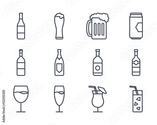 Beverage Drinks Icon Outlined