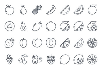 Fruits Icon Outlined