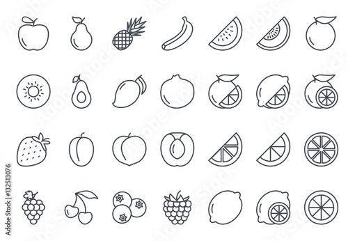 Fruits Icon Outlined - 132513076
