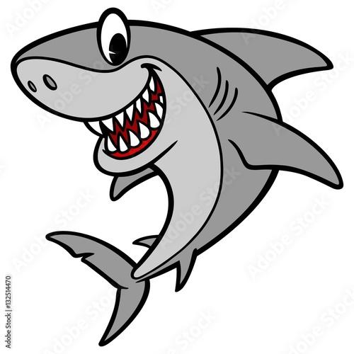 Fototapeta Shark Cartoon Illustration