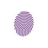 Fingerprint line icon, vector sign, linear colorful pictogram isolated on white. Symbol, logo illustration