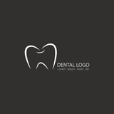 Simple yet modern dental and dentistry theme logo element
