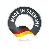 Made in Germany flag black color label button banner - 132518231