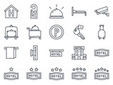 Fototapety Hotel Icon Outlined
