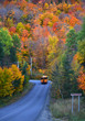 Montreal- Mont Tremblant road in a cold morning of autumn.