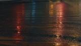 Old crosswalk in the night lighting