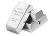 platinum bars, 3D rendering