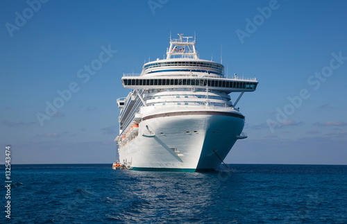 Poster Cruise Ship Anchored in Caribbean